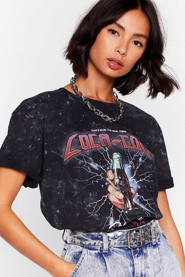 Charcoal Lighten Up Coca Cola Graphic Tee