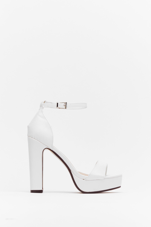 All White Platform Heels