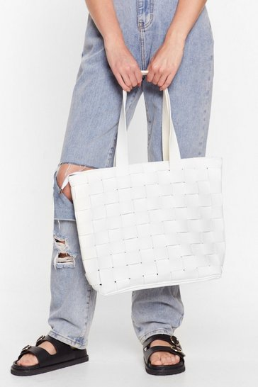 White WANT Weave Only Just Begun Tote Bag