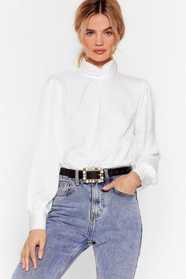Black Act Like You Square Embellished Belt