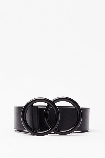 Black Take It to the Matte Circle Buckle Belt