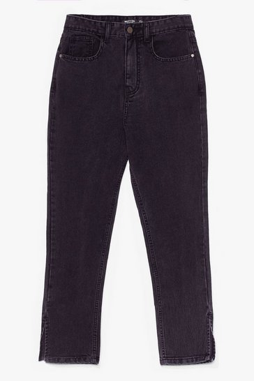 Washed black Split It Both Ways High-Waisted Mom Jeans