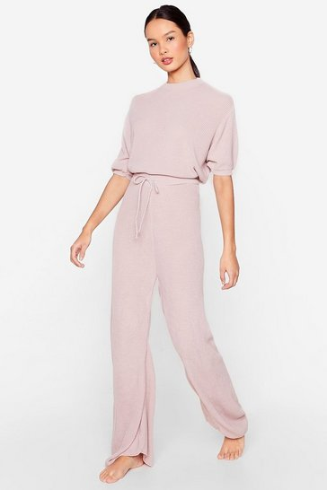Nude Let's Stay Home Knitted Pants Lounge Set