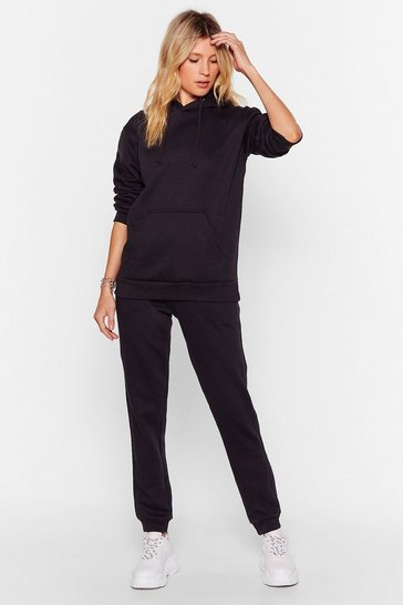 Black Run With It High-Waisted Relaxed Jogger