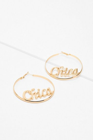 Gold Chica Hoop Earrings