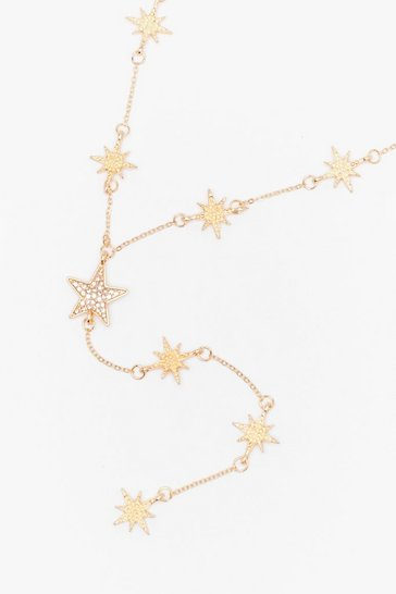 Gold Star-t the Party Diamante Drop Necklace