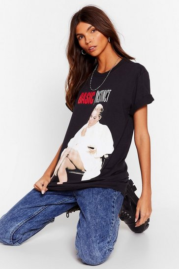 Black Basic Instinct Graphic Tee