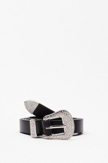 Black Callin' All Country Queens Diamante Belt