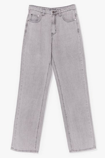 Light grey Slouchy Wide Leg Jeans