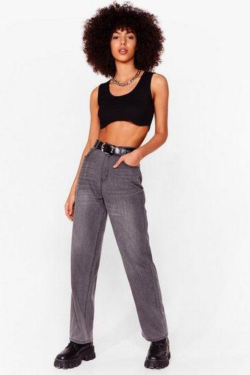 Not On Our Wash Boyfriend Jeans, Light grey