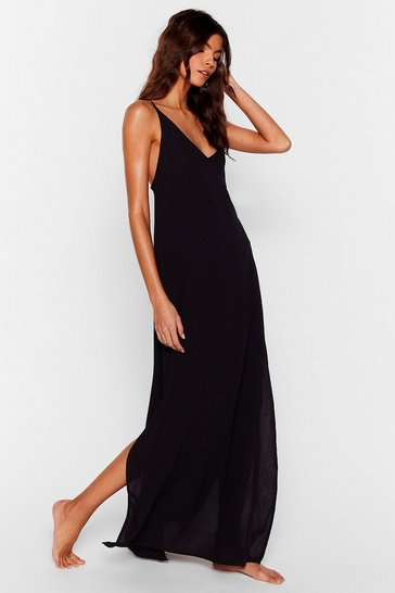 Rust Time to Pool Off Cover-Up Maxi Dress