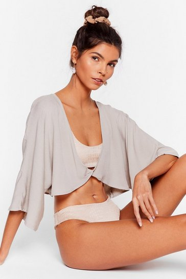 Stone Let Me V Twist Cover-Up Top