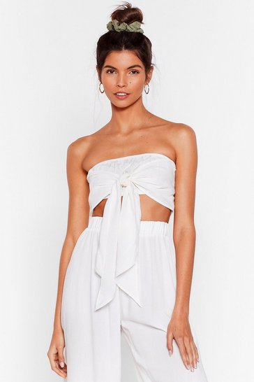 Cream Water You Up to Bandeau Cover-Up Top