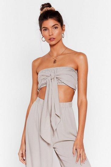 Stone Water You Up to Bandeau Cover-Up Top