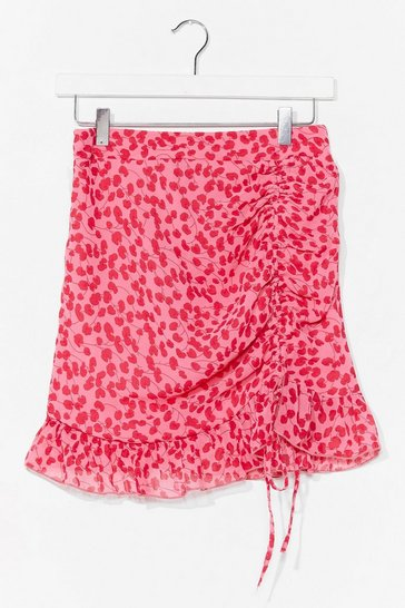 Pink Swinging on the Dancefloor Floral Mini Skirt