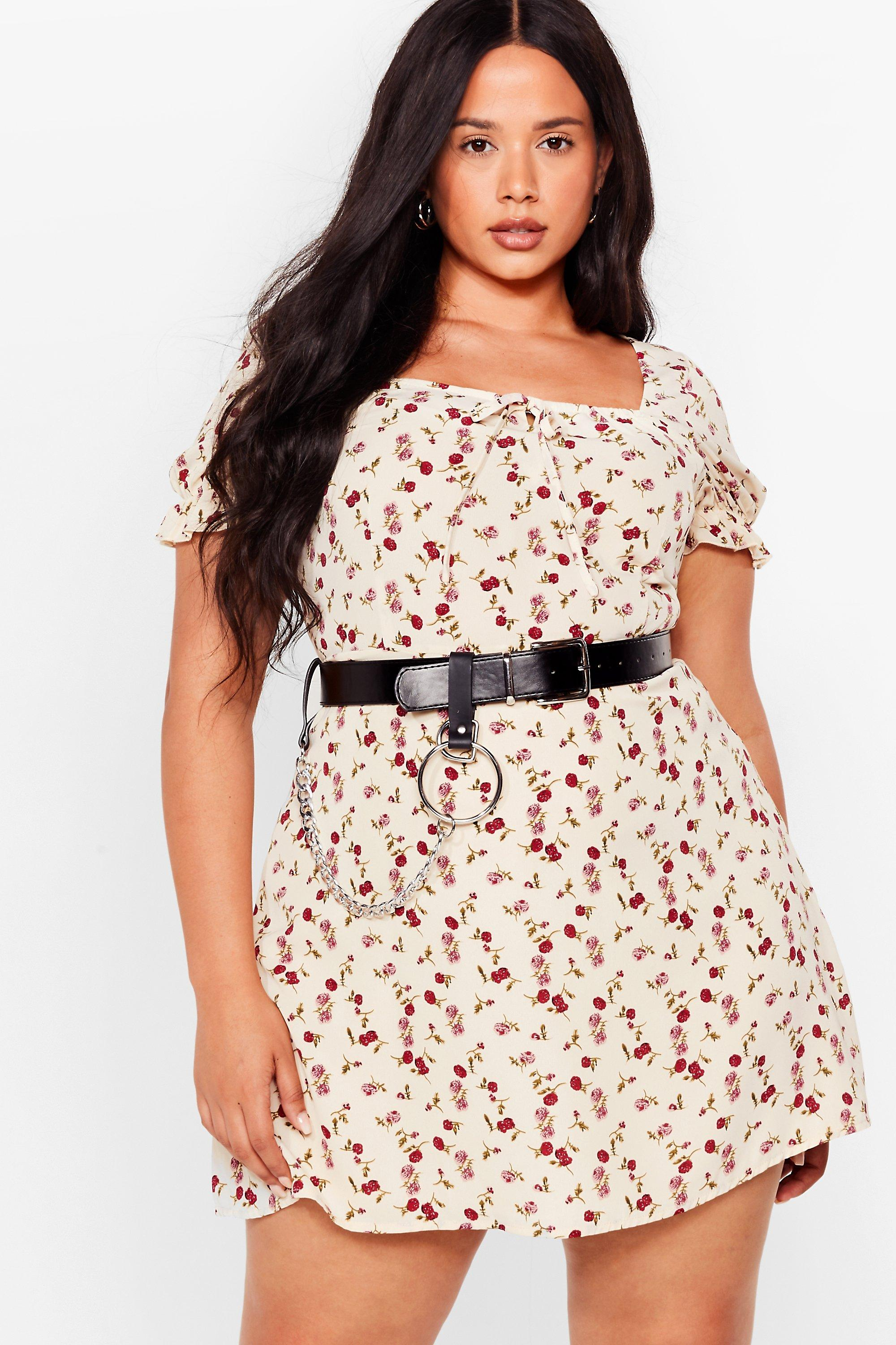 Tongue Tied Plus Floral Dress 8