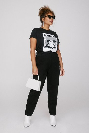 Black We'll Ask Mom High-Waisted Jeans