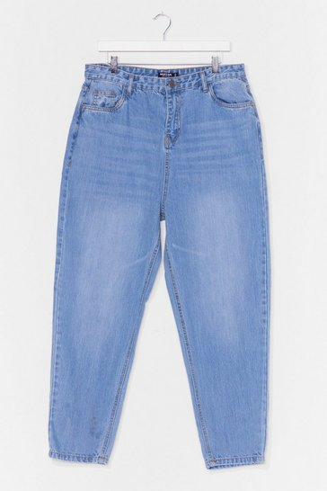 Stonewash High Waisted Relaxed Mom Jeans