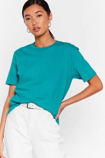 Jade Get Back to Basics Crew Neck Fitted Tee