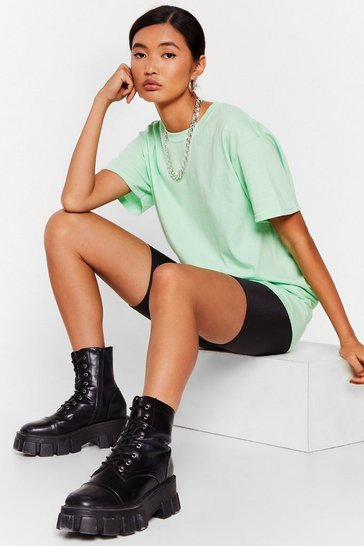 Mint Get Back to Basics Crew Neck Fitted Tee