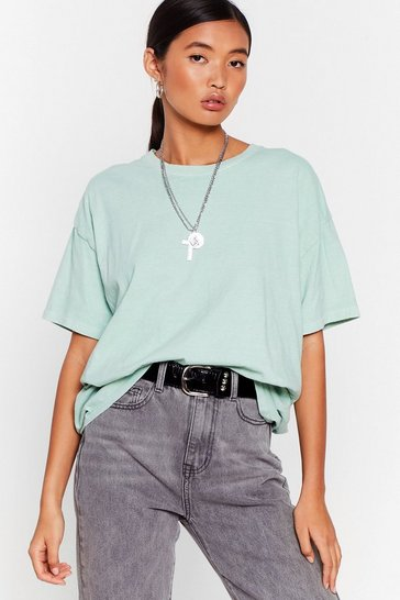 Mint What's the Relaxed Crew Neck Tee