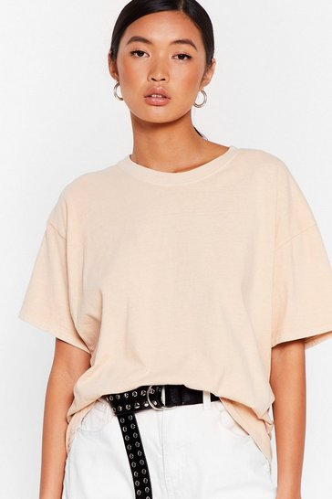 Sand What's the Relaxed Crew Neck Tee