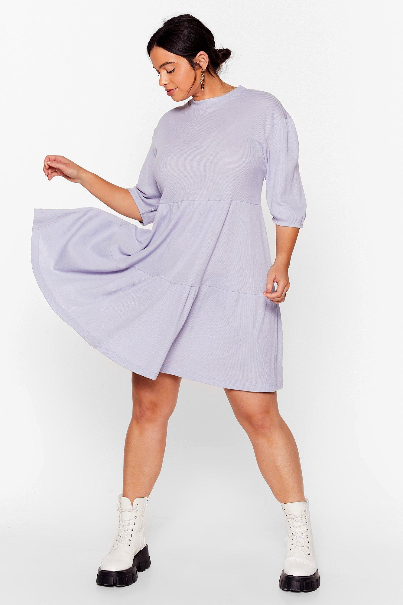 Smock It Off Plus Ribbed Dress 6