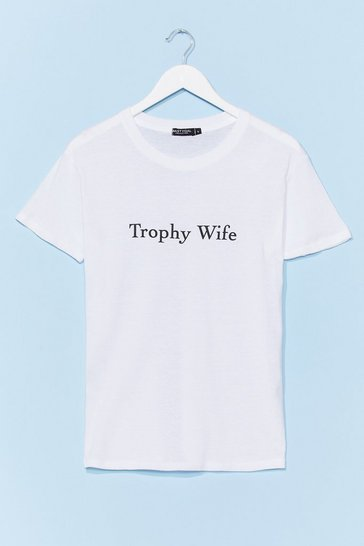 White Trophy Wife Relaxed Graphic Tee
