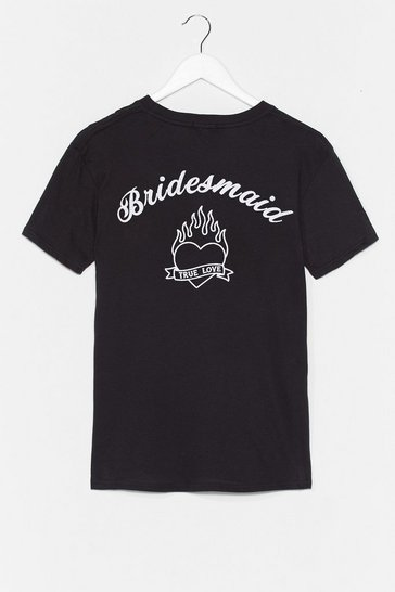 Black Bride Squad Bachelorette Graphic Tee