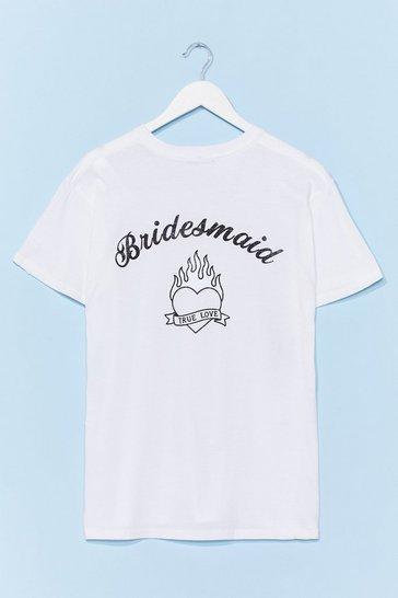 White Bride Squad Bachelorette Graphic Tee