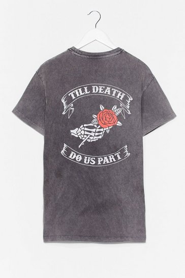 Grey 'Till Death Do Us Part Graphic Tee