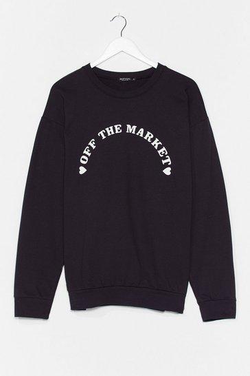 Black Off the Market Graphic Sweatshirt