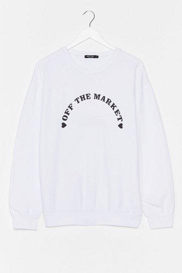 White Off the Market Graphic Sweatshirt