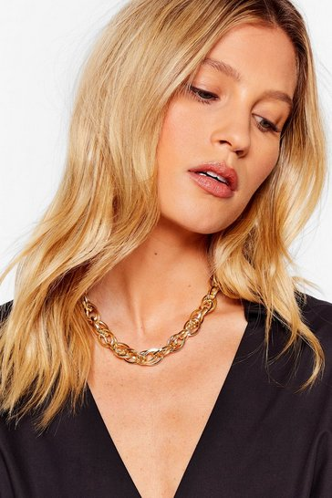 Gold Twist It Chain Necklace