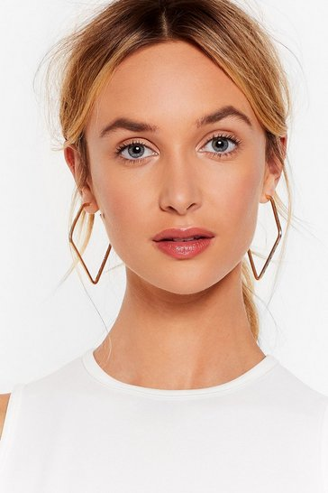 Gold The Sky With Diamonds Hoop Earrings