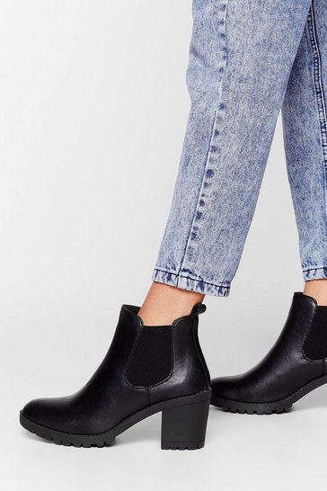Black Need a Raise Heeled Chelsea Boots