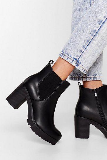 Black Shoes That Girl Heeled Ankle Boots