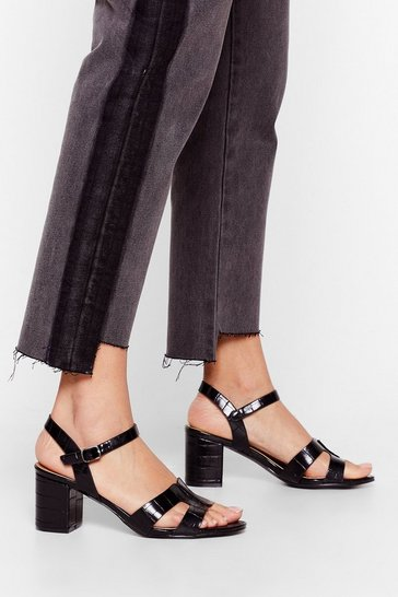 Black On My Block Strappy Sandals