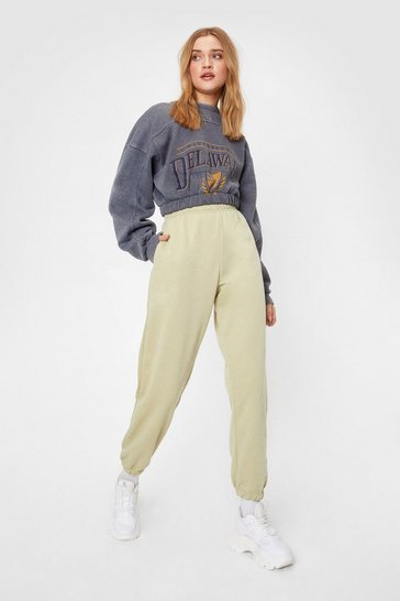 Olive Running Back to You High-Waisted Joggers