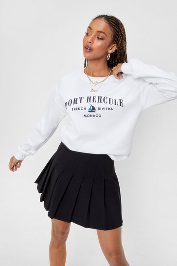 White French Riviera Graphic Sweatshirt