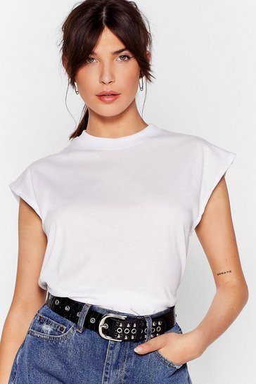 White Know the Basics Crop Tank Top
