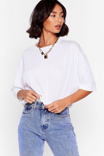 White Comfort Is the Mission Oversized Tee