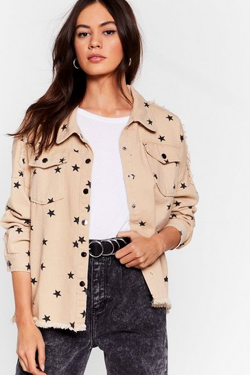 Stone Star-t It Up Relaxed Denim Jacket