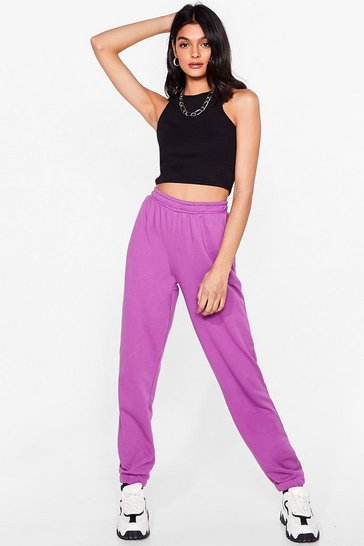 Purple Run the World Relaxed Joggers