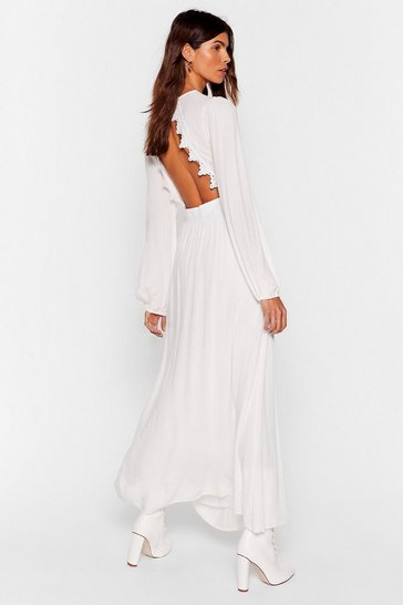 White Be Free Broderie Anglaise Maxi Dress