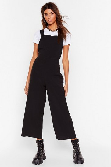 Black Jump on Board Wide-Leg Jumpsuit