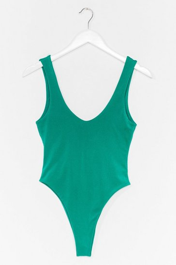 Green Low Tide High-Leg Swimsuit