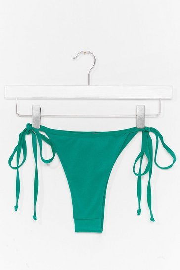 Green We Have Beach Other Tie Bikini Bottoms