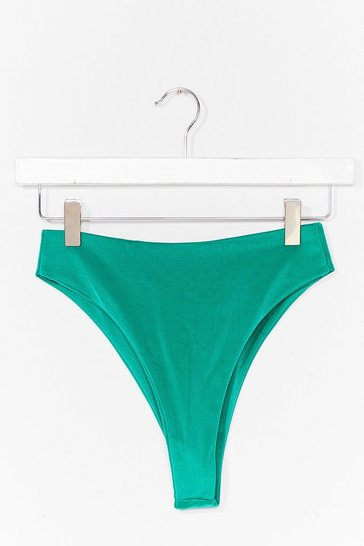 Green Seas the Moment High-Waisted Bikini Bottoms