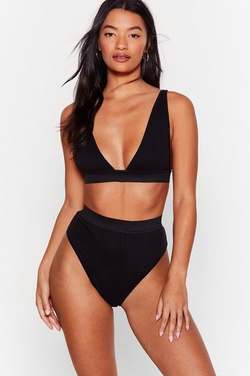 Black It Takes Two Baby Bralette and Panty Set